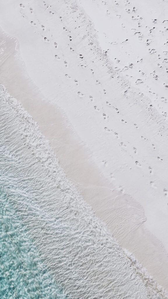 Beach Footprints Wallpaper