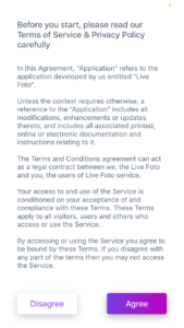 Live Foto Terms of Service