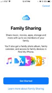 Set Up Family Sharing