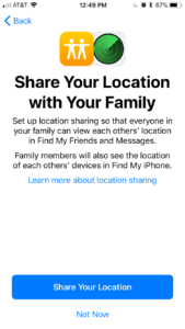 Share Your Location With Your Family