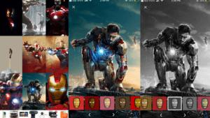 Iron Man Wallpaper App: Customizing and Saving Options