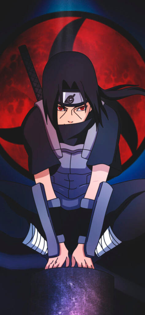 Naruto iPhone wallpaper Itachi