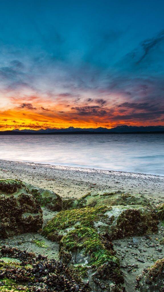Iphone beach wallpaper sunset