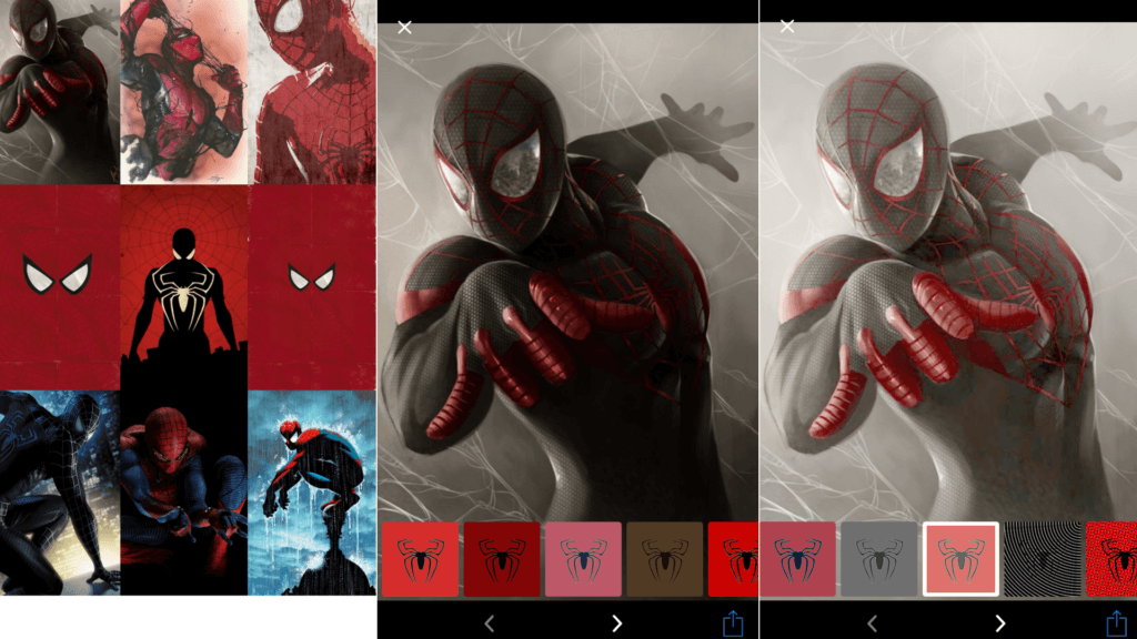 Spiderman Wallpaper App: Customize Filter