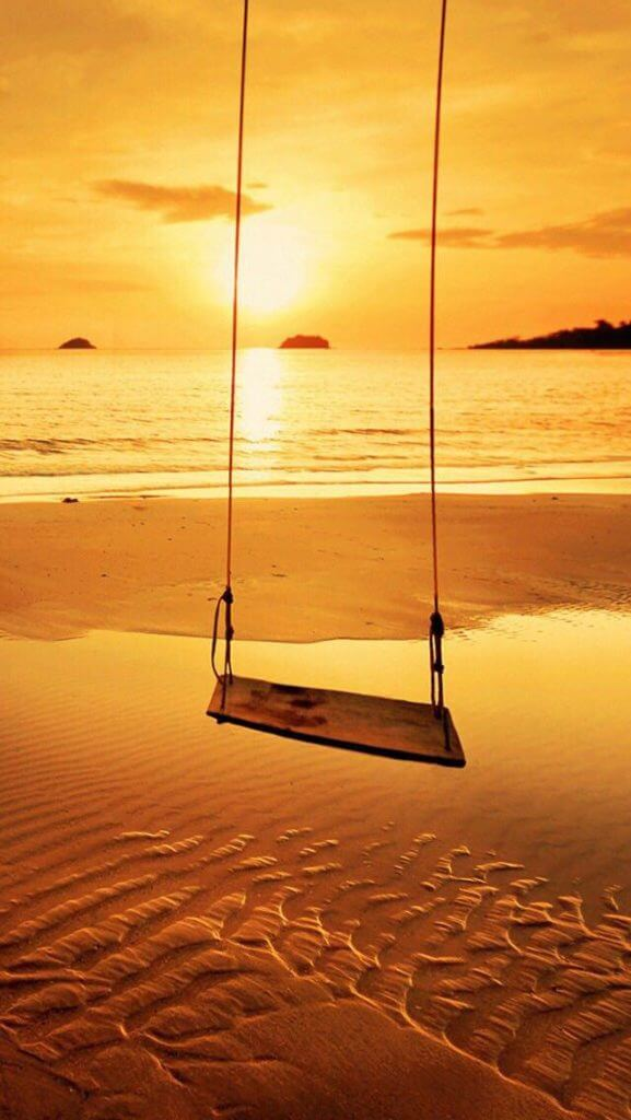Swing during Sunset at the Beach