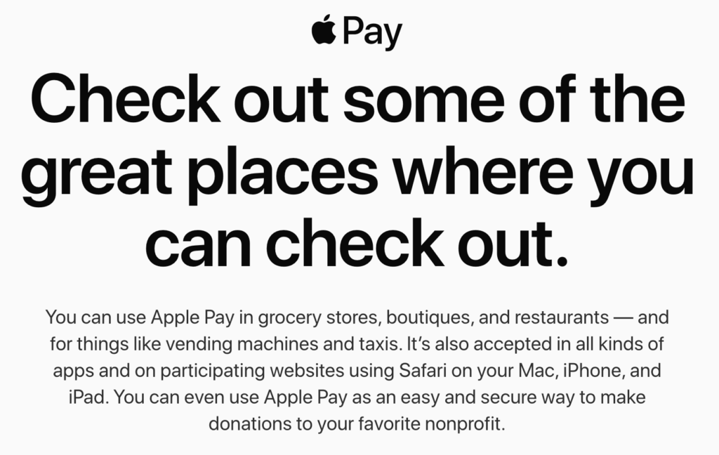 Where to use Apple Pay