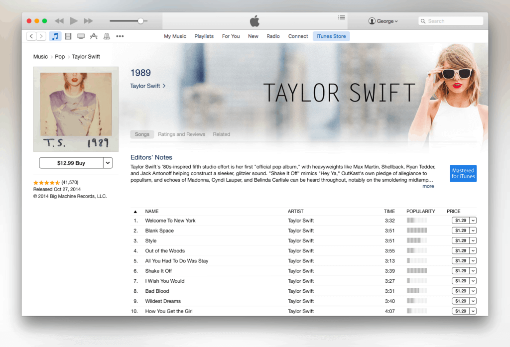 iTunes Store Songs For Purchase