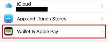 Wallet & Apple Pay in Settings