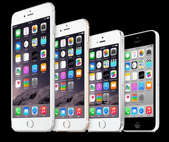 iPhone 6s, 6, 5s, 5