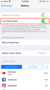 Low Power Mode Feature