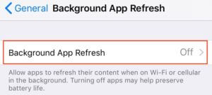 Background App Refresh Setting