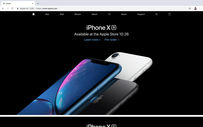 Apple Online Homepage