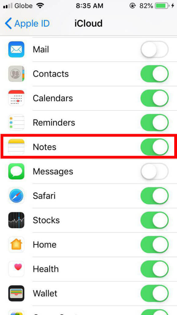 How to restore accidentally deleted notes app on iphone