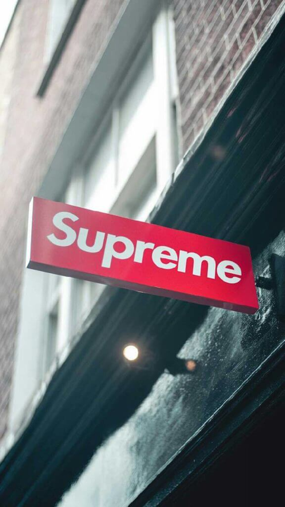 Supreme Store Sign