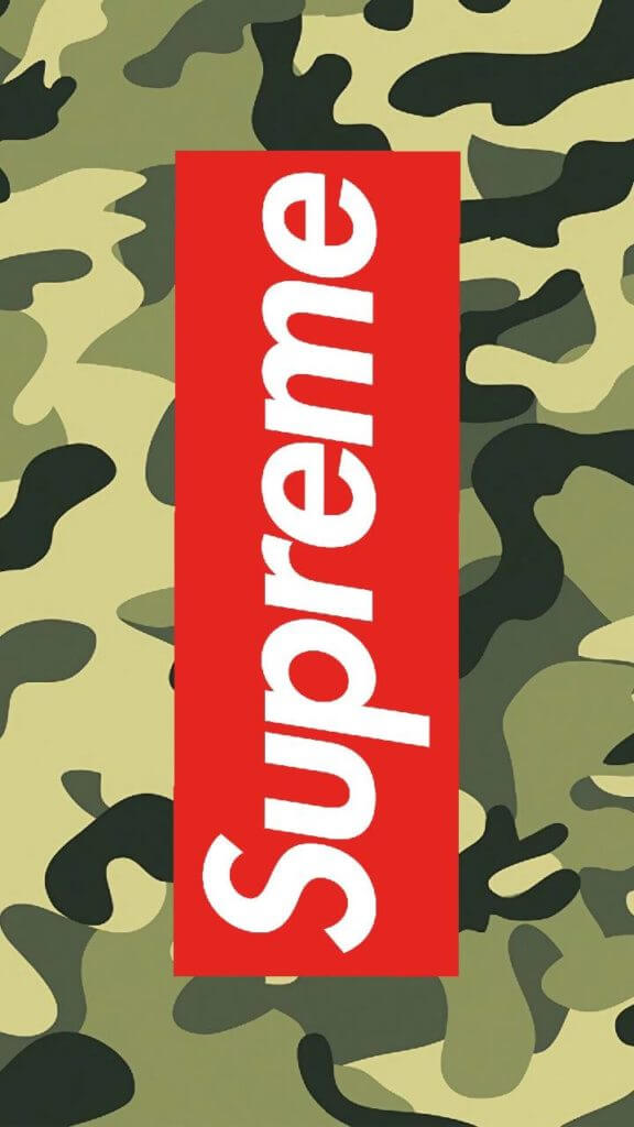 Green Camouflage and Supreme Logo