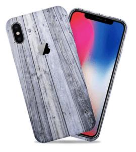 Aged Wood iPhone X Skin