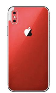 Minimalist Red iPhone X Skin