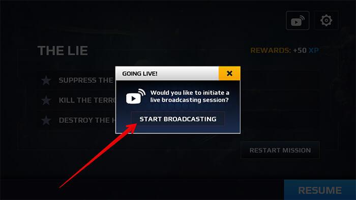 Start Broadcasting