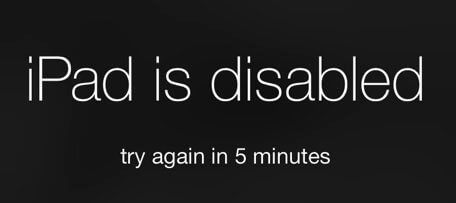 Disabled iPad For Five Minutes