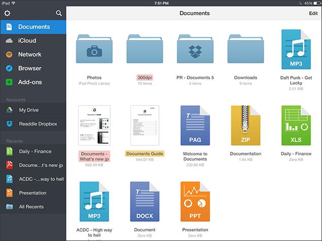 Documents App On iPad