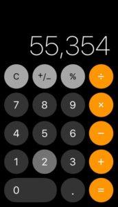 iPhone Calculator
