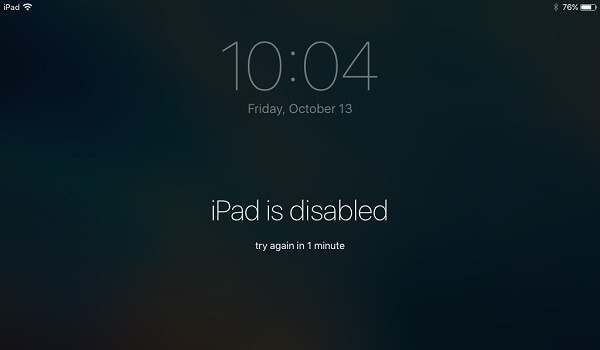 iPad Is Disabled Message On Screen