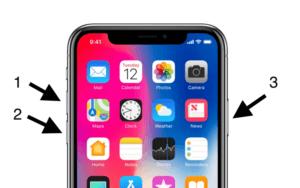 Restart iPhone XS Max