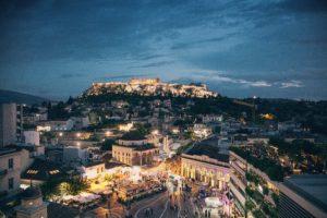 City Lights In Greece