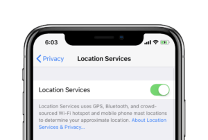 iPhone X Location Services