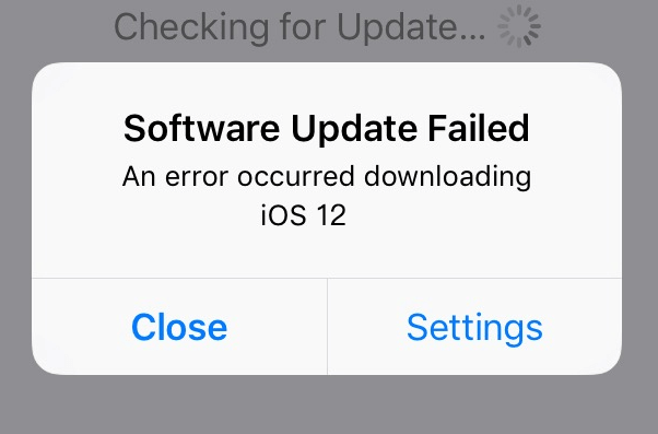 Failed Software Update