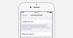 iPhone Location Services Feature