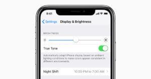 Paramètres d'affichage et de luminosité de l'iPhone X
