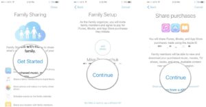 Get Started On Family Sharing Setup