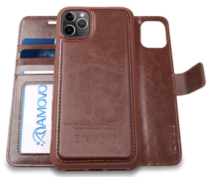 AMOVO Leather iPhone Wallet Case