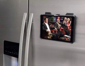 Zugu's Muse case mounted on the magnetic fridge