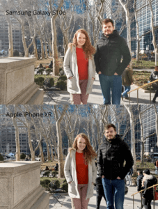 iPhone XR vs Galaxy S10e cameras under direct sunlight (Photo credits to owner)