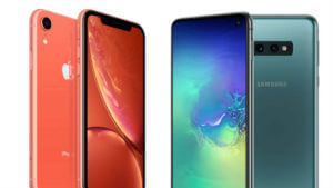 iPhone XR vs Galaxy S10e: Design